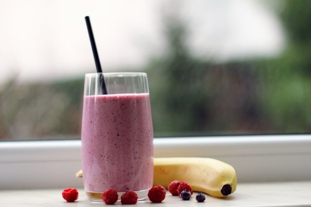 a summer berry smoothie