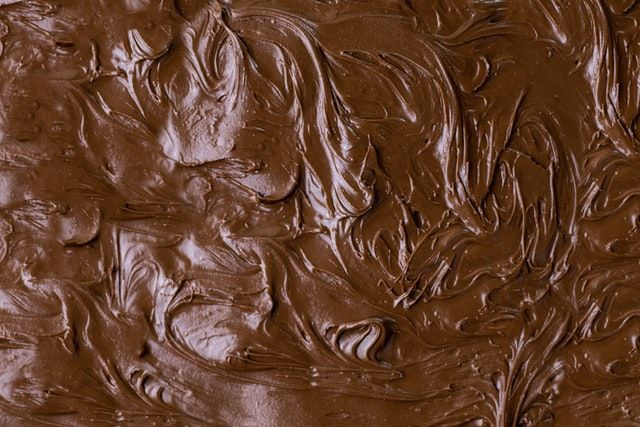 Melted chocolate with swirls